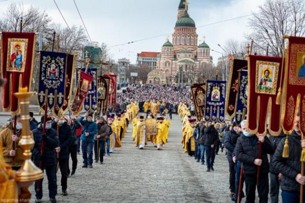 Religious Processions Held in Different Dioceses of the Ukrainian Church on the Sunday of Orthodoxy