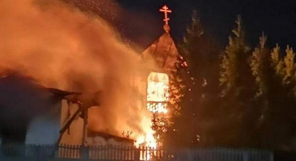 Fire Destroys Main Building with the Church of St. Peter Convent in Pavlodar