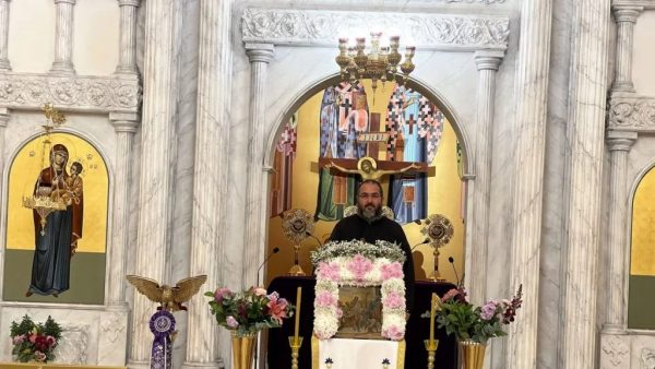 Tears of joy as iconic Greek Orthodox Church opens its doors after catastrophic fire
