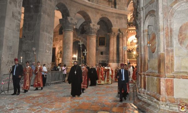 The Feast of Pentecost Celebrated at the Patriarchate of Jerusalem