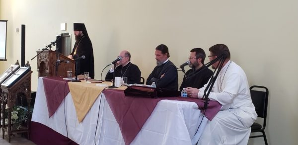 """Bishop Irenei Addresses a Symposium on """"The Mother of God in Our Lives"""" in Los Angeles"""