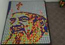 Mr Puzzle creates Patriarch Daniel portrait with 720 Rubik's cubes as congratulation on His Beatitude's 70th birthday