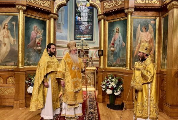 Metropolitan Tikhon Presides at the Divine Liturgy at St. Nicholas Russian Cathedral in New York City