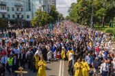 350 Thousand Believers Take Part in Cross Procession in Kiev