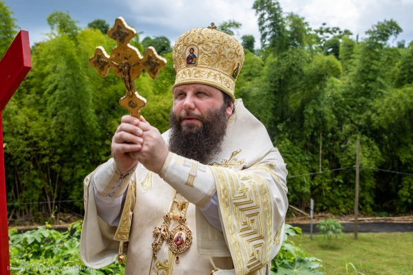 Bishop Nicholas of Manhattan Consecrates a Cross on the Site of the Future Church of the Annunciation in Puerto Rico