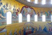 Romania's National Cathedral's Altar Mosaic Iconography Revealed as Scaffolding Comes Down: PHOTOS