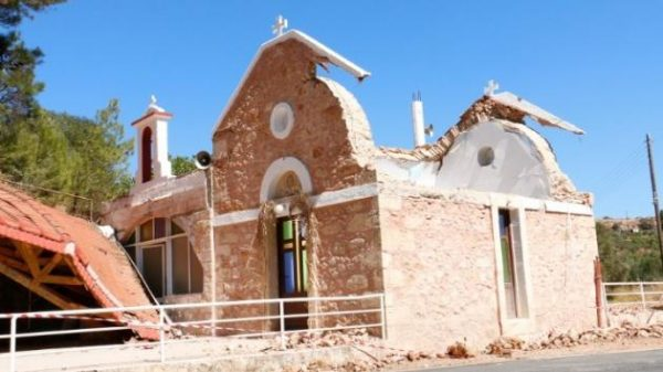 Crete Earthquake Crushes the Church of the Holy Prophet Elijah