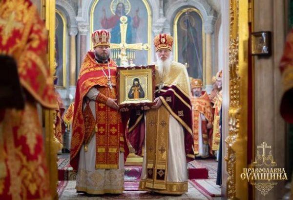 Metropolitan Onuphry Officiates the Rite of Glorification of Martyr Aristarchus (Sitalo)
